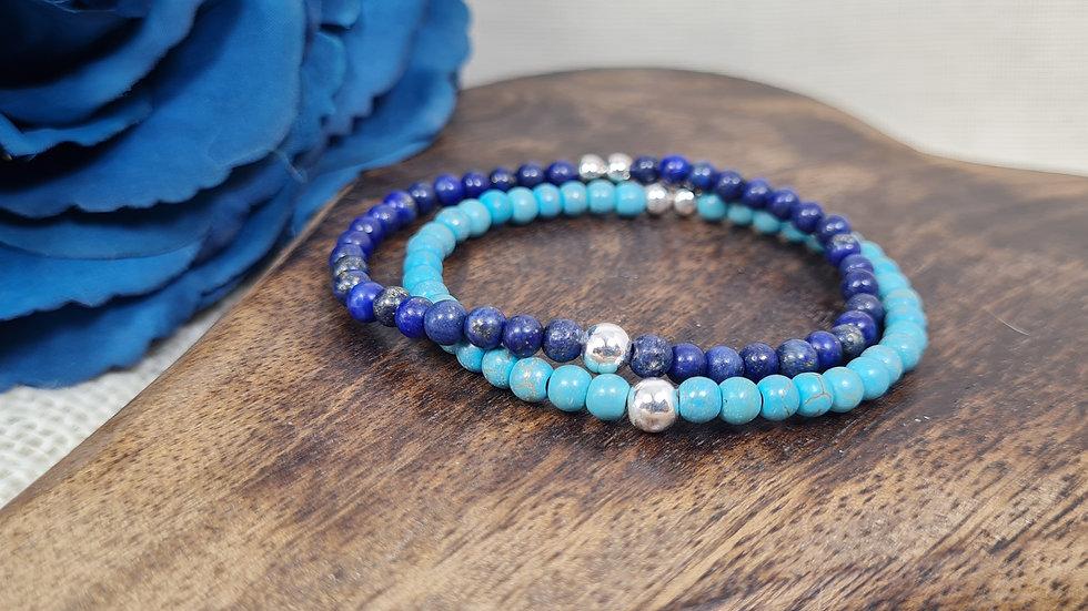 Sterling Silver 'Kloe' Semi Precious birthstone bracelet