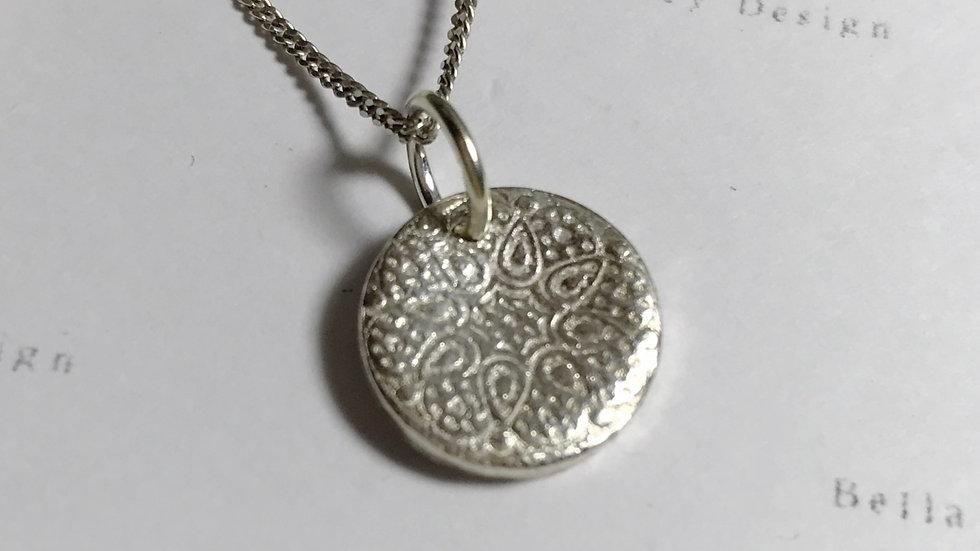 Sterling Silver Mandala inspired Pendant