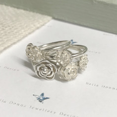Bella Donna Sterling Silver jewellery in bloom collection