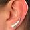 Thumbnail: Sterling silver Leaf ear climbers (Pair)