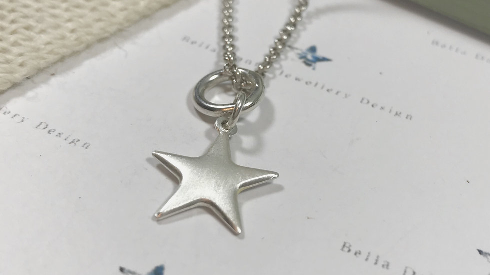 Sterling Silver frosted star Pendant