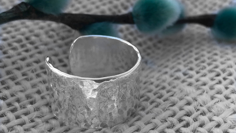 Sterling silver Chunky adjustable thumb ring