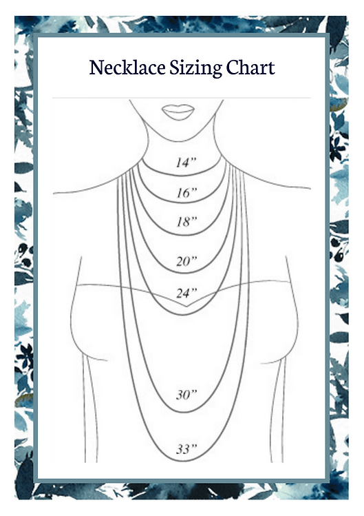 Necklace sizing Chart - Bella Donna Desi