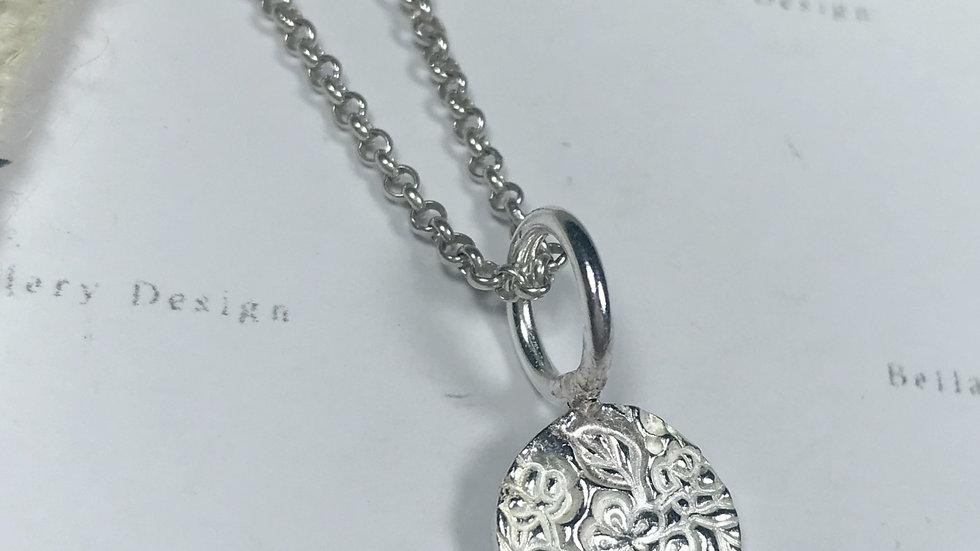 Sterling Silver Medium Blossom Pendant