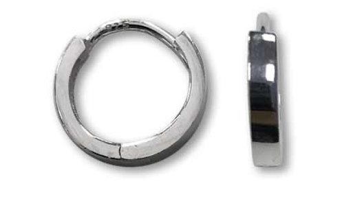 Sterling Silver Plain Huggie earrings wide hoops