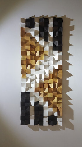 Wood Mosaic 92x36 cms Wall Art - Woodeometry