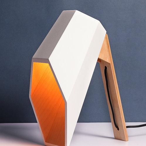 Phoenix Modern Table Lamp - White x Oak
