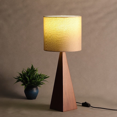 Triangluar Wooden Table Lamp - Special Walnut