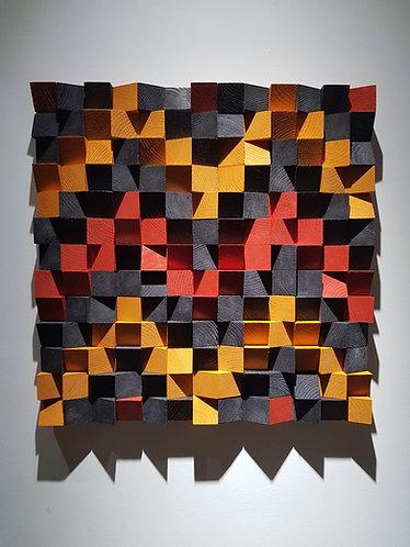 Wood Mosaic 52x52 cms Wall Art - Woodeometry