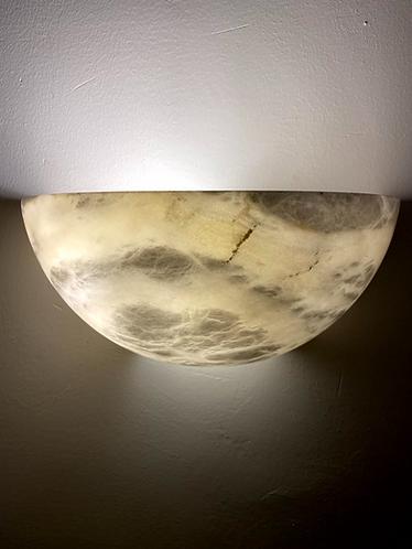 Alabaster Lamp 28x14 cms Semi Circular Marble Wall light