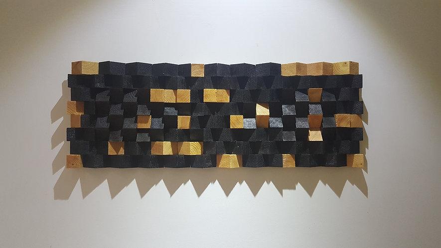 Wood Mosaic 90x33 cms Wall Art - Woodeometry