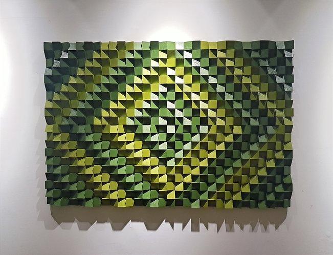 Wood Mosaic 120x80 cms Wall Art - Woodeometry