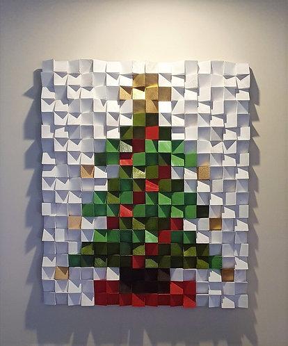 Wood Mosaic 64x76 cms Wall Art - Woodeometry