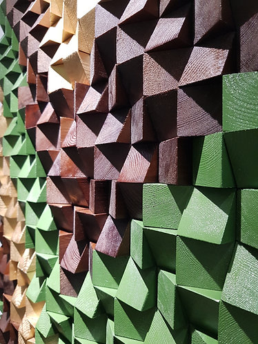 Wood Mosaic 60x80 cms Wall Art - Woodeometry