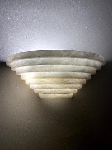 Alabaster Lamp 33x13 cms Pyramid Shape wall marble light