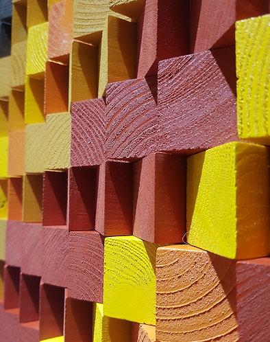 Wood Mosaic 44x36 cms Wall Art - Woodeometry