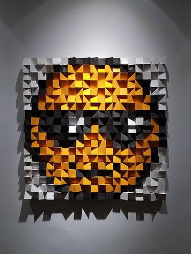 Wood Mosaic 76x76 cms Wall Art - Woodeometry