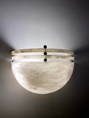 Alabaster Lamp 28x19 cms marble wall light
