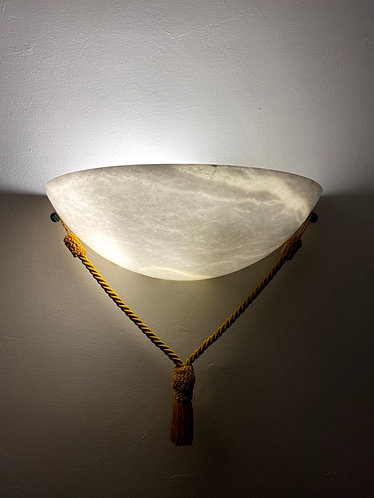 Alabaster Lamp 39x13 cms wall marble light  with Rope