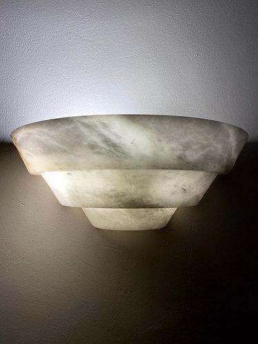 Alabaster Lamp 31x12 cms Pyramid Shape marble wall light