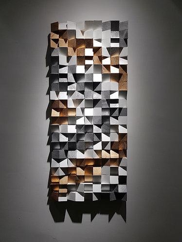 Wood Mosaic 36x83 cms Wall Art - Woodeometry