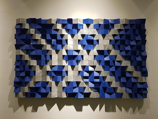 Wood Mosaic 100x60 cms Wall Art - Woodeometry