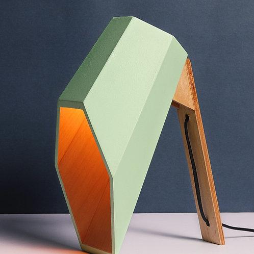 Phoenix Modern Table Lamp - Green x Oak