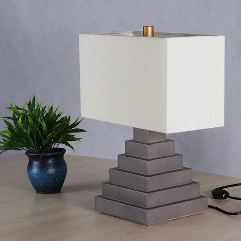 Maslow Table Lamp - Weathered Gray