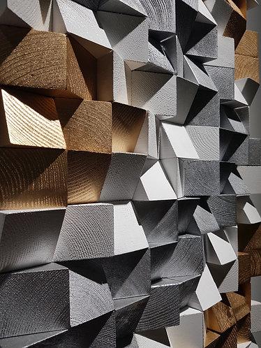 Wood Mosaic 56x56 cms Wall Art - Woodeometry