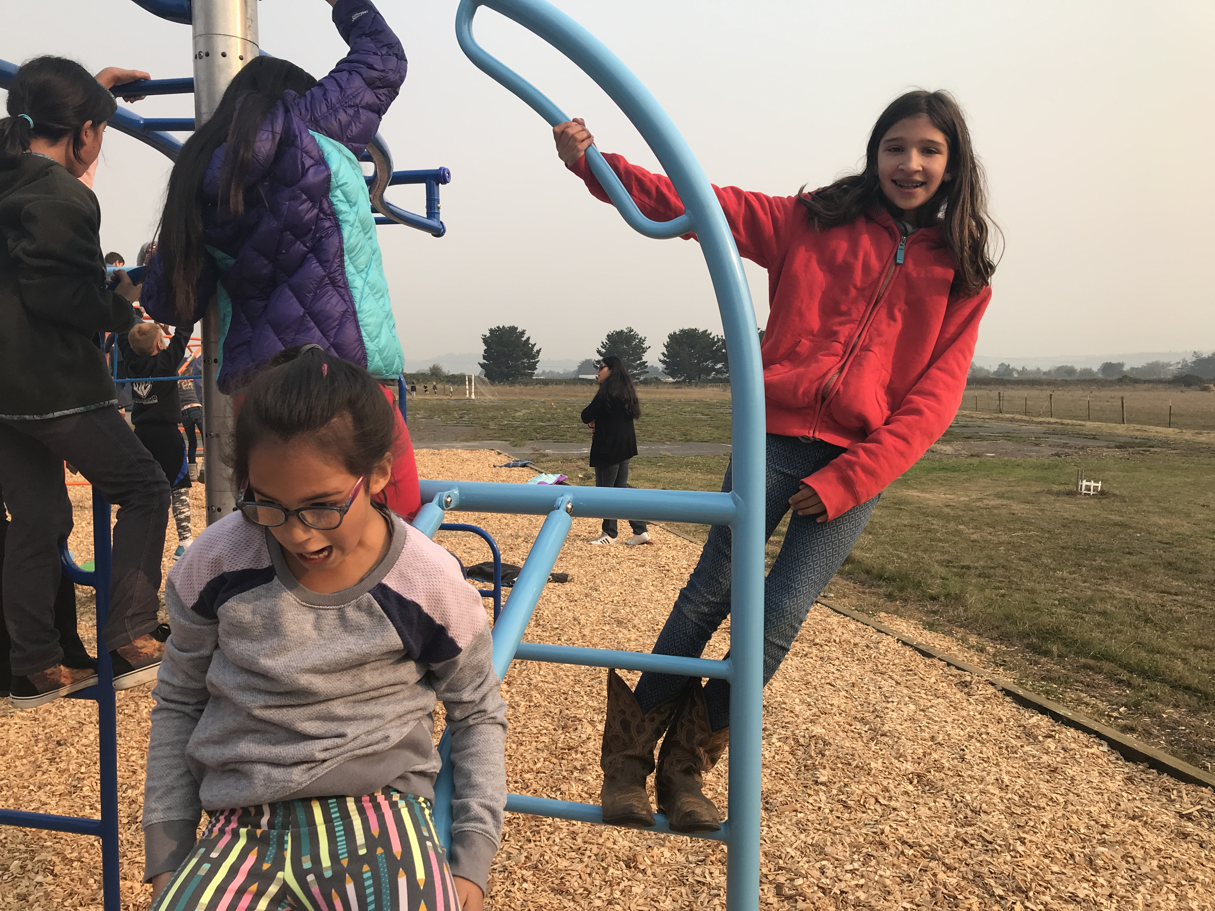 Students playing on the playground
