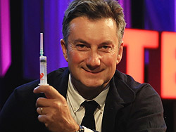 Marc Koska with syringe