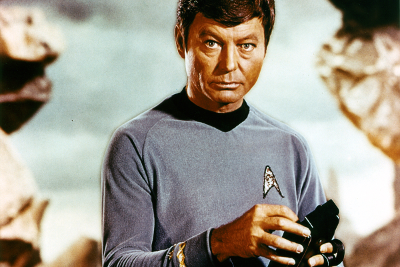 Dr 'Bones' McCoy with his trusty tricorder