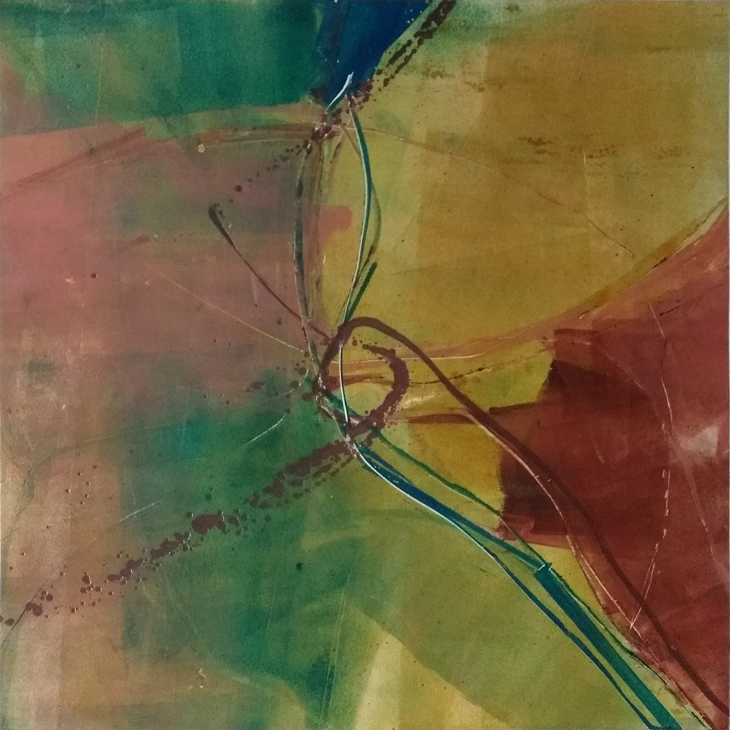 28 - oil based ink monoprint, 51 x 51 cm