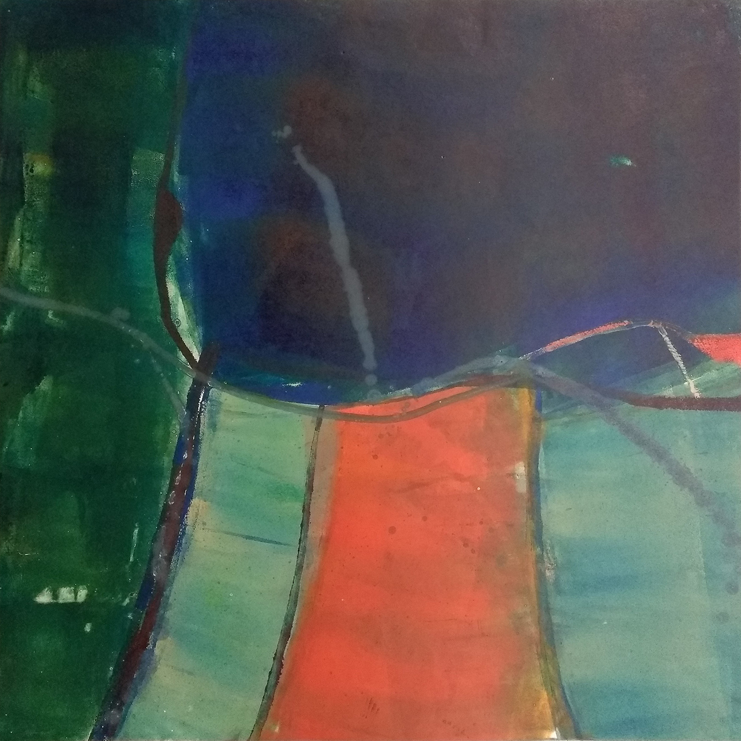 5 - oil based ink monoprint, 51 x 51 cms