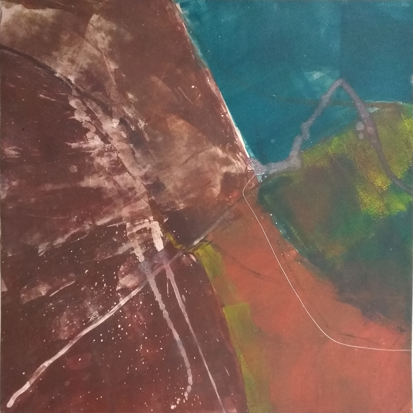 1 - oil based ink monoprint, 51 x 51 cms