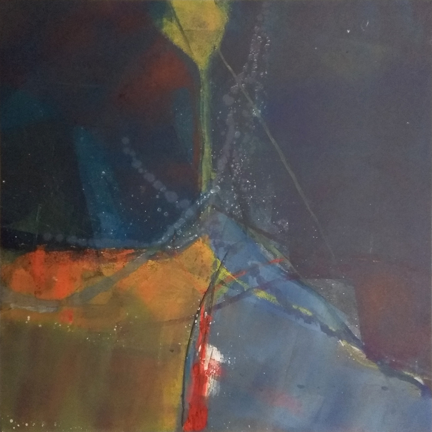 50 - oil based ink monoprint, 51 x 51 cm