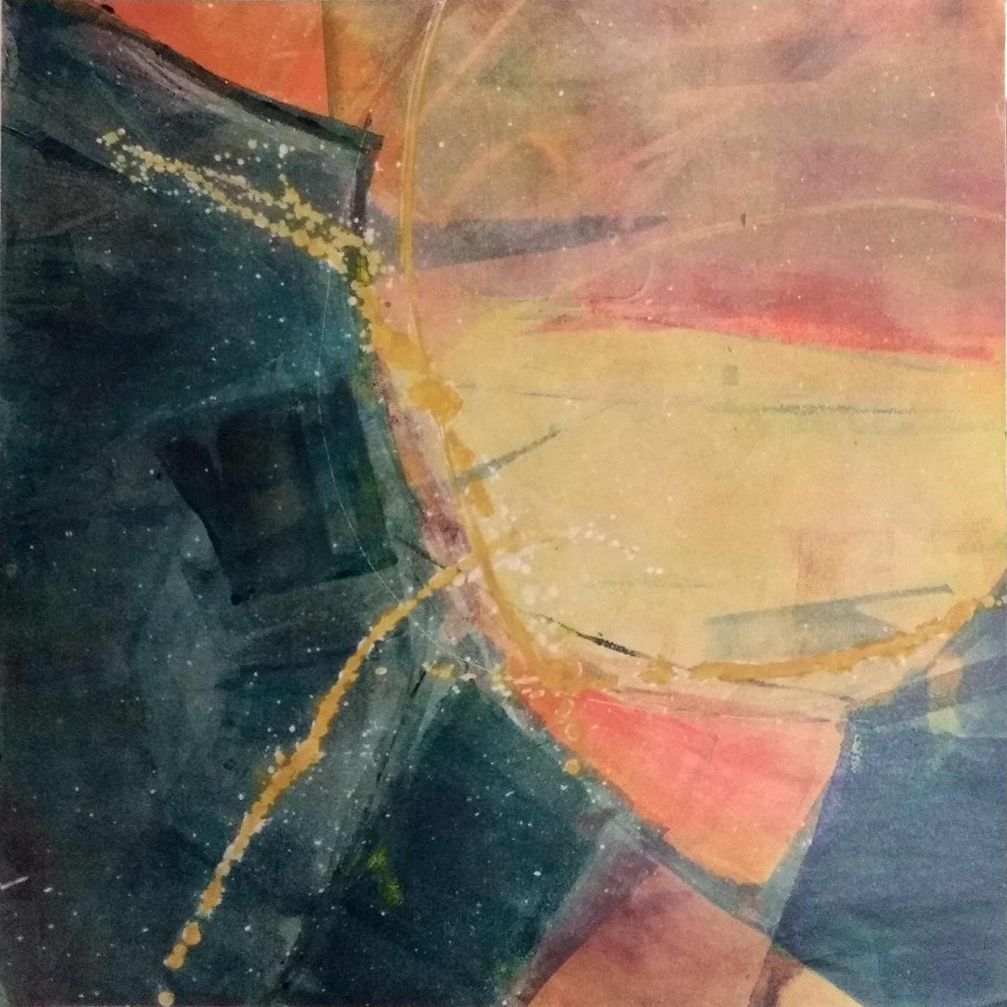 57 - oil based ink monoprint, 51 x 51 cm
