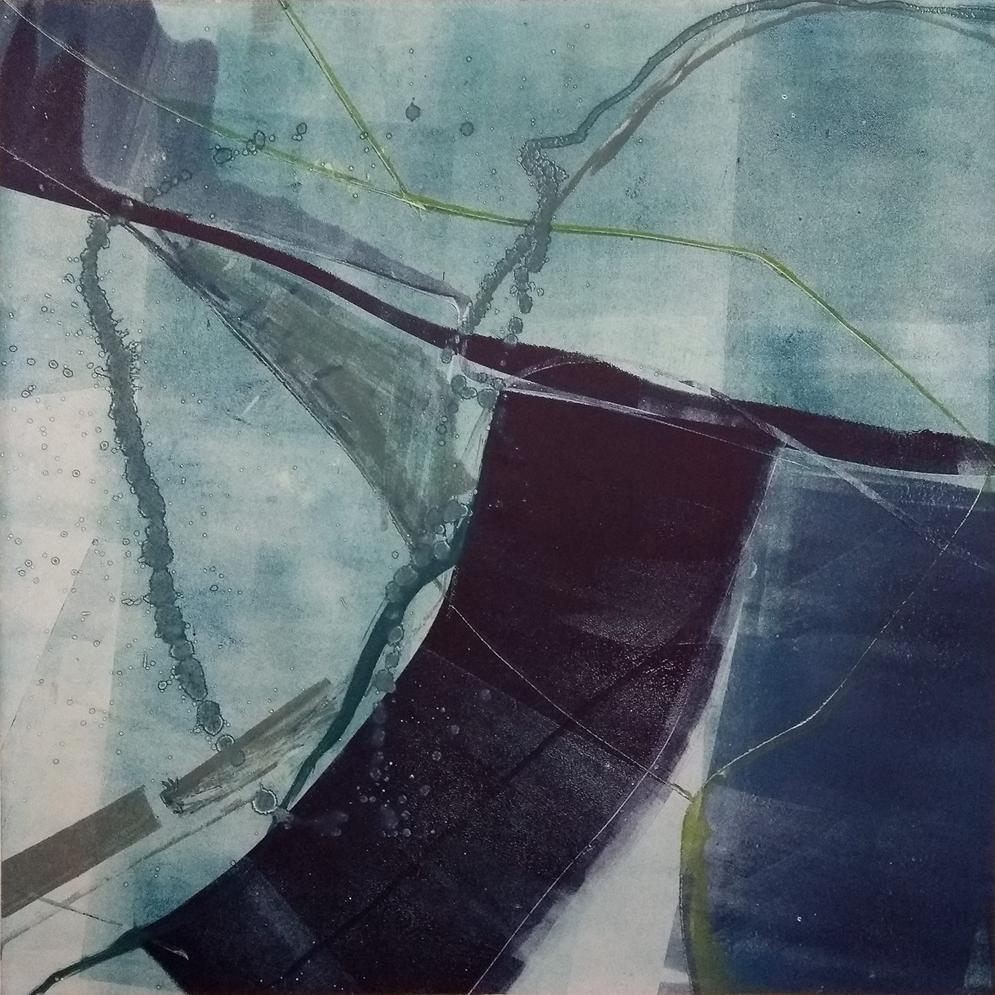 11 - oil based ink monoprint, 51 x 51 cm