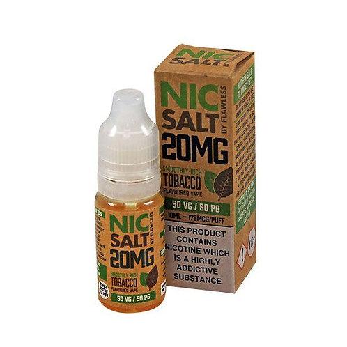 Smoothly Rich Tobacco Nic Salt - 10ml Flawless 20mg