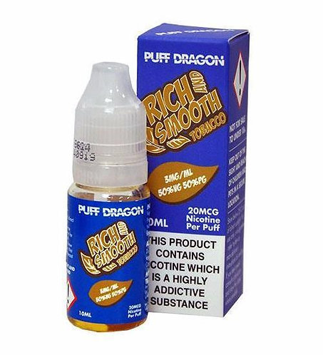 Rich and Smooth Tobacco 10ml - Puff Dragon 3/6/12 mg