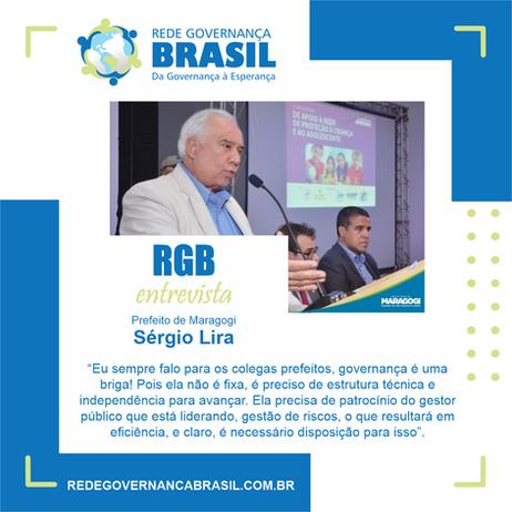 Prefeito de Maragogi, Sérgio Lira ''governança é uma briga''