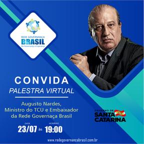 Live com Augusto Nardes, ministro do TCU e Embaixador da Rede de Governança Brasil.