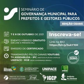 RGB e AL-CE promovem seminário sobre governança