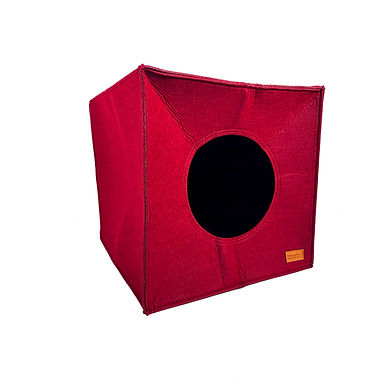 Red Velvet Box Cat Cave