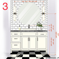 Placing sconces at eye level on either side of a mirror is the correct way to light up the vanity area.
