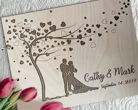 Rustic Wedding Guest Book/ Memory Book