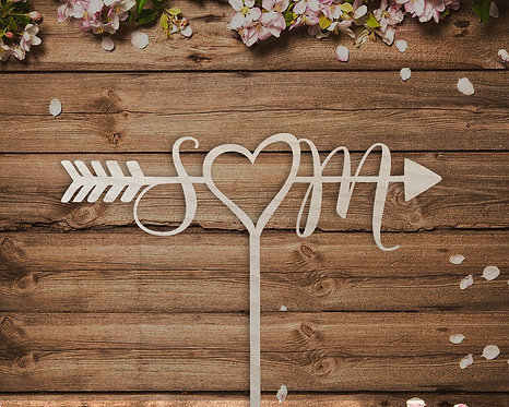 Personalized Initial Wedding Cake Topper