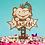 Thumbnail: Personalized Elephant Birthday Wood Cake Topper