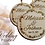 Thumbnail: Bride and Groom Name Wedding Favor Ornaments