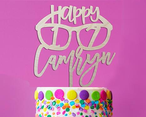 Personalized Sunglasses Birthday Cake Topper